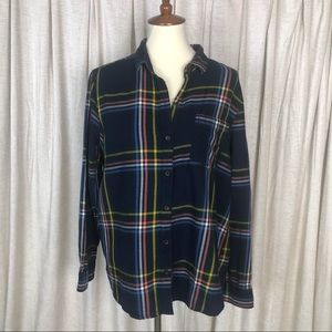 Old Navy Multicolor Plaid Classic Button Shirt